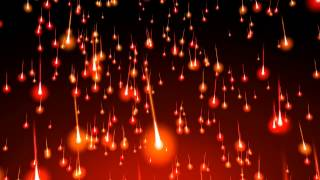 4K 60fps ~Falling Fire Comets Effect~ 2160p Motion Background AA VFX
