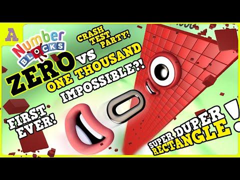 Is it possible?!! Numberblock ZERO vs tower 1000 Super Duper Rectangle
