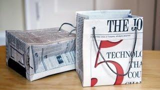 Как сделать пакет? Из газет!