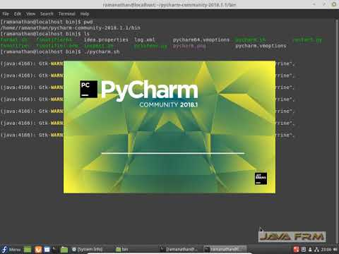 PyCharm 2018 Community Edition Installation in Fedora 28 Workstation