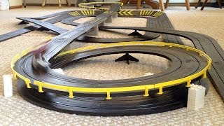 Large Tyco Slot Car Double Helix Layout