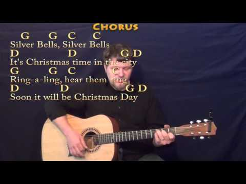 Silver Bells (Christmas) Strum Guitar Cover Lesson in G with Chords/Lyrics