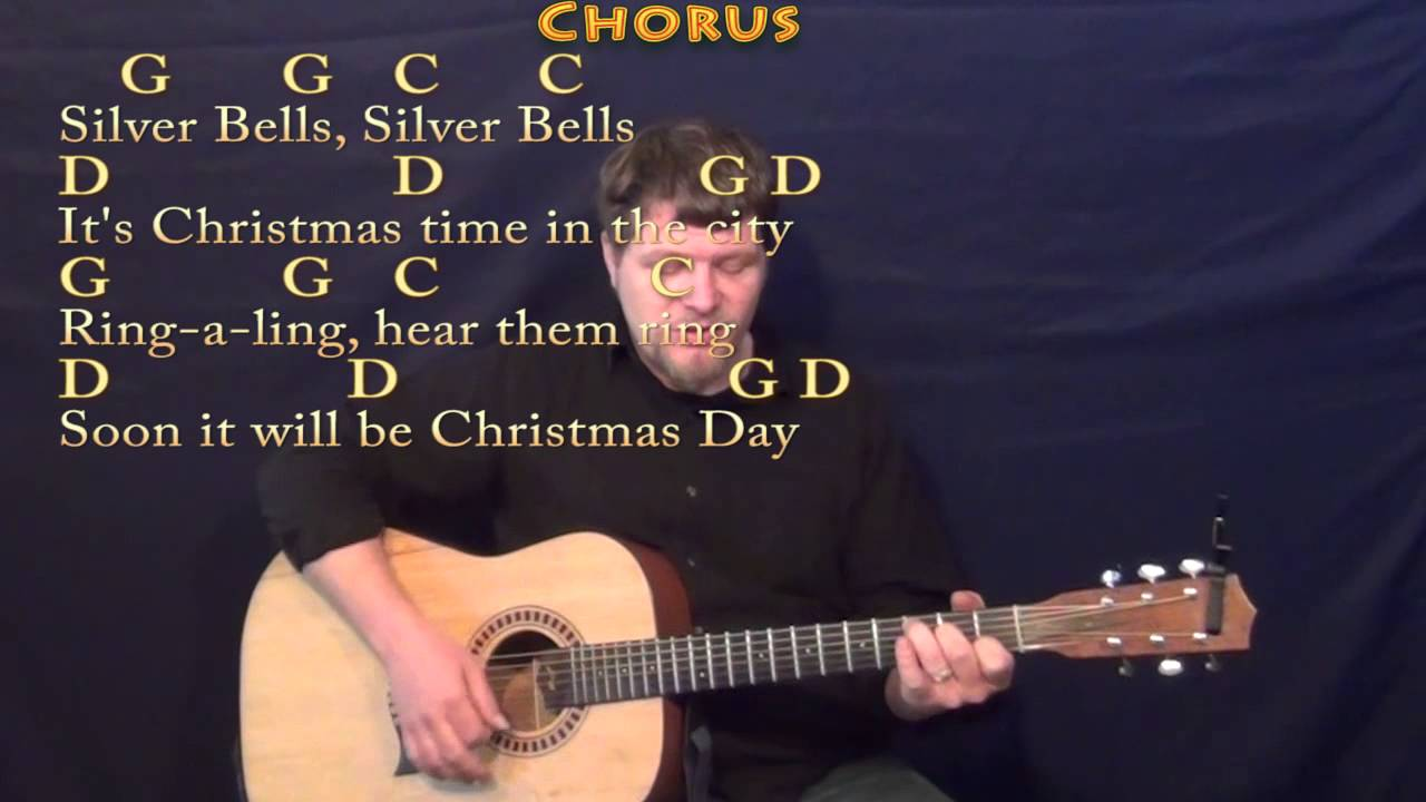 Silver Bells Christmas Strum Guitar Cover Lesson In G With Chords