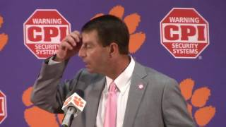 TigerNet.com - Dabo Swinney on overtime win over NCSU - 10.15.2016
