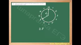 Определение угла между часовой и минутной стрелкой