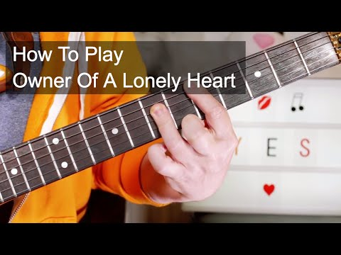 'Owner Of A Lonely Heart' Yes Guitar & Bass Lesson