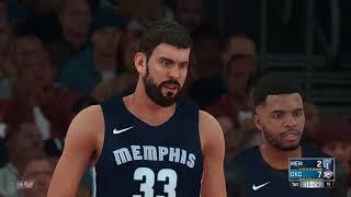 NBA 2K18 Memphis Grizzlies vs Oklahoma City Thunder