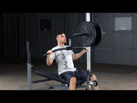 Body Solid Lat Row Attachment Glra81 Youtube