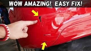 HOW TO FIX PAINT SCRATCH ON CAR BUMPER like a PRO | Easy