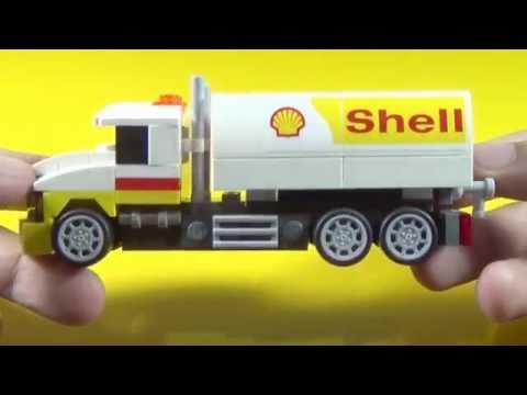 Shell Lego Tanker Truck Building Instructions (Set 40196)