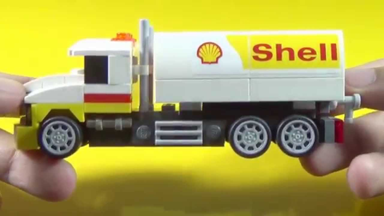 Shell Lego Tanker Truck Building Instructions Set 40196 Youtube