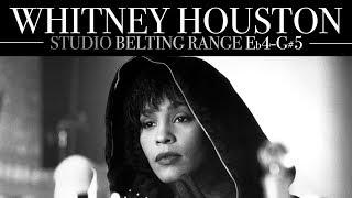 Whitney Houston's Belting Range in 1 Minute (Studio: Eb4-G#5)