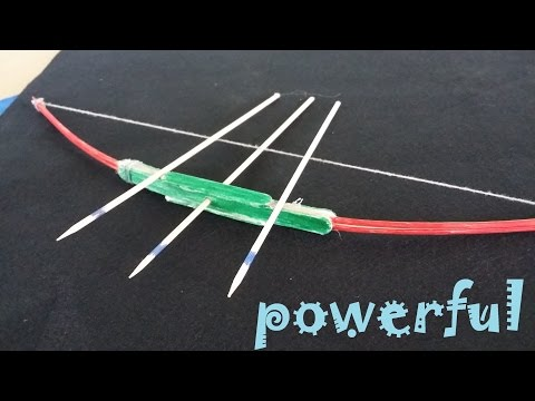 How To Make A Powerful Bow Using Popsicle Sticks And Toothpicks
