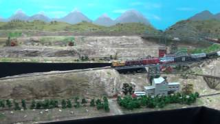 N-scale Model Train Layout