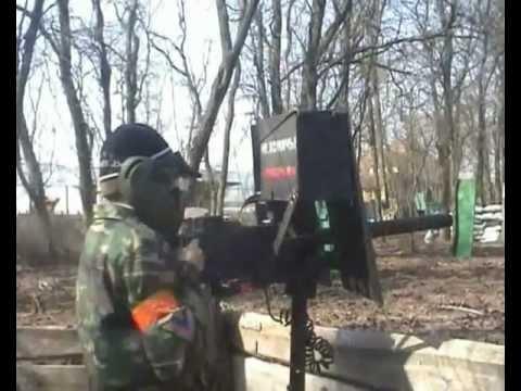Пейнтбольный станковый пулемет ЧАСТЬ 2 paintball machine gun