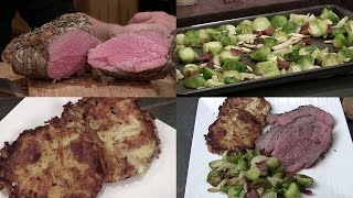 How-To Turn a Roast into Prime Rib, Cheesy Potato Cakes & Brussel Sprouts w/ Almonds (Episode #407)