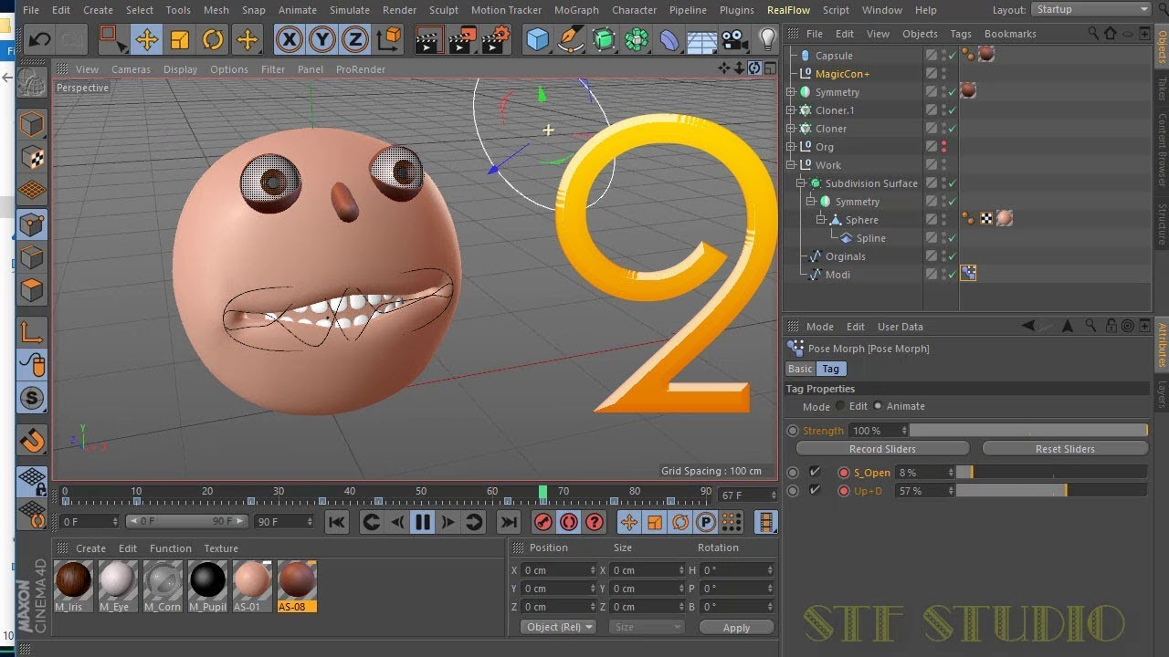 Face Animation in Rigging a Mouth and Using Pose Morph Tag Cinema 4d Bangla  Tutorial Part 2