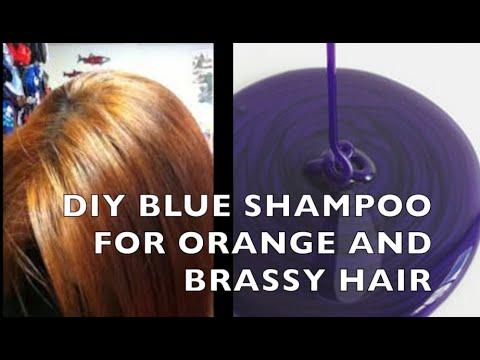 DIY How to Make Blue/Purple Shampoo for BRASSY ORANGE HAIR ...