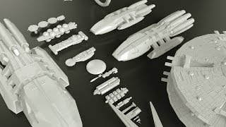 Starships Size Comparison (Battlestar Galactica)