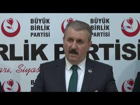 BBP Genel Başkanı Mustafa Destici, Milletvekili Adayı Olacağını Açıkladı