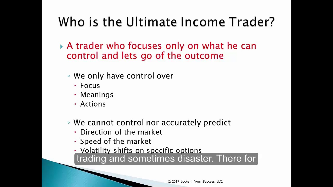 Ultimate Income Trader Focus YouTube – Income Trader
