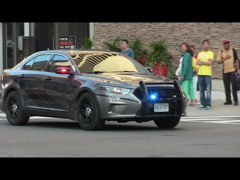 Stealth Ford Police Interceptor + Marked Ford Crown Victoria - Toronto Police Services responding