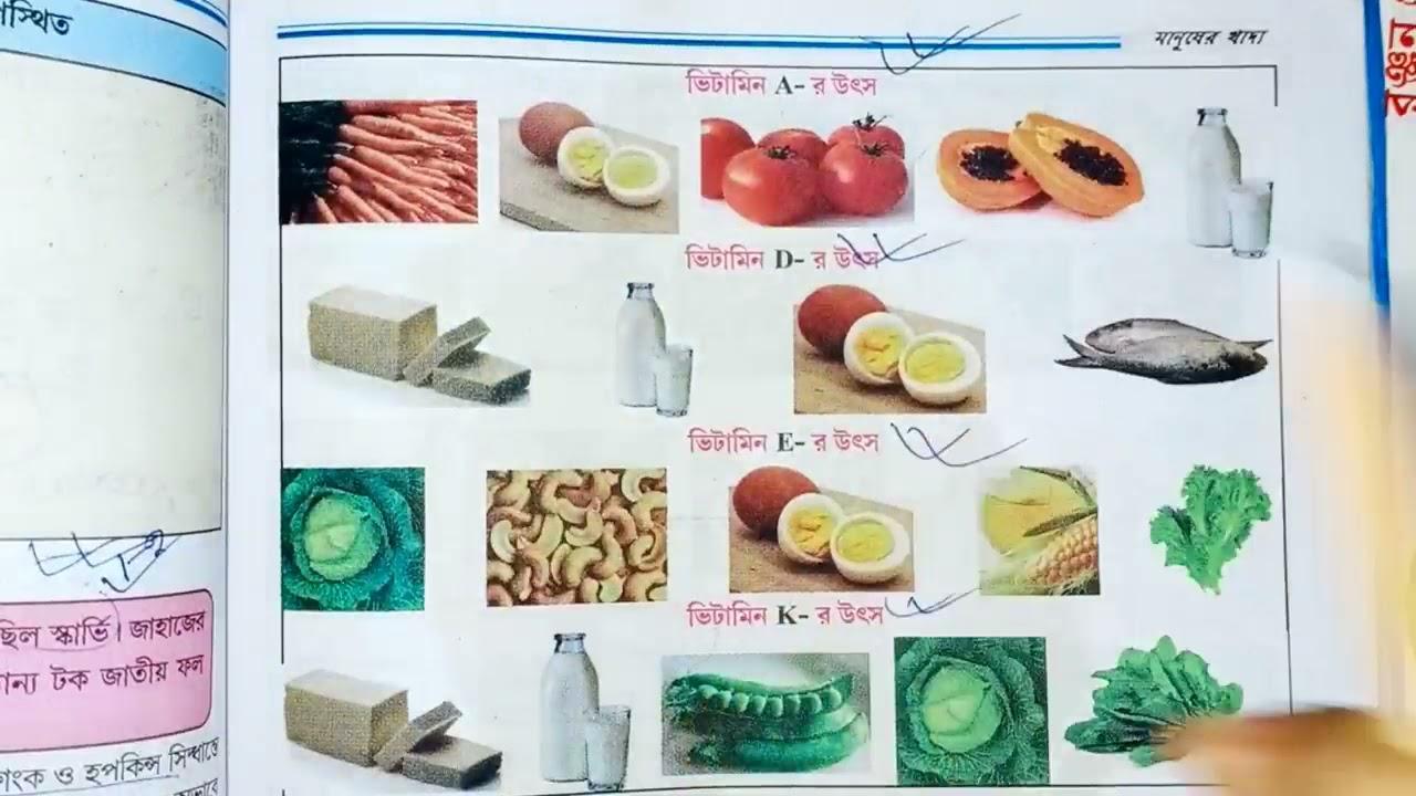 সপ্তম শ্রেণীর পরিবেশ ও বিজ্ঞান মানুষের খাদ্য Part-11 || Class-7 Physical science human food ||