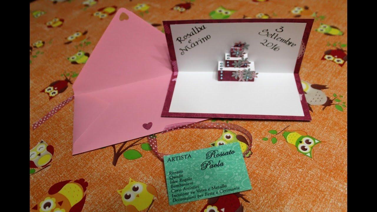 Biglietto Auguri Matrimonio Pop Up : Wedding pop up card biglietto di auguri pop up per matrimonio