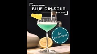 Blue Gin Sour by @servedbysoberon