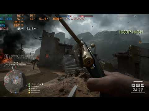Battlefiled 1 Gameplay - Ryzen 5 1600 (12 Nm) + GTX 960 2GB - All Settings FPS Test 1080p Full Hd