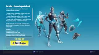 Fortnite item shop 6th February 2019 - Frozen Legends Pack is back again