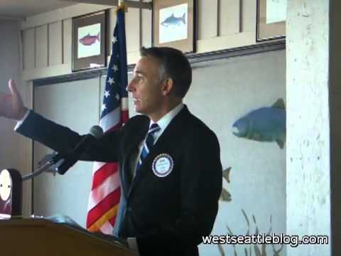 King County Exec Dow Constantine Talks to the West Seattle Rotary Club