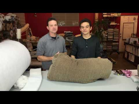 How to fix flat back cushions for sofas or chairs