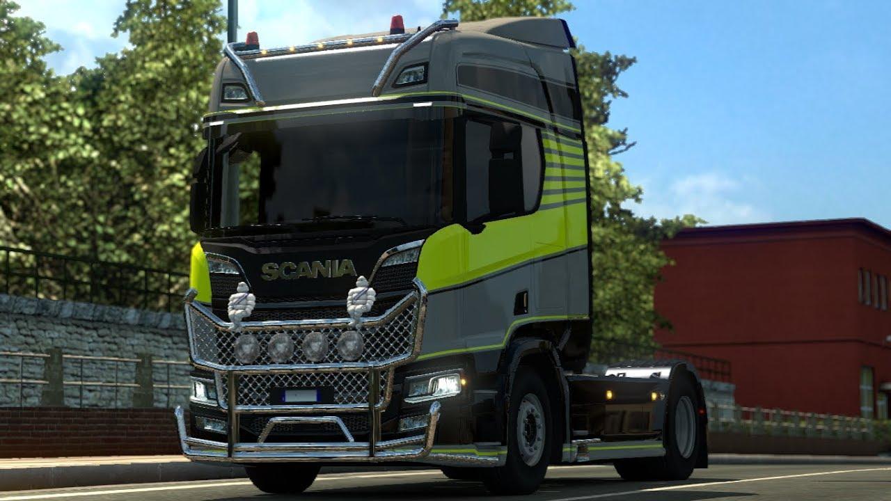 euro truck simulator 2 scania s r new tuning. Black Bedroom Furniture Sets. Home Design Ideas