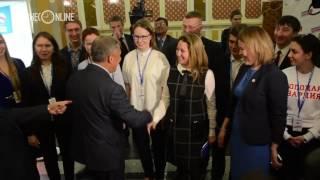 Как встречали Рустама Минниханова на конференции  Единой России