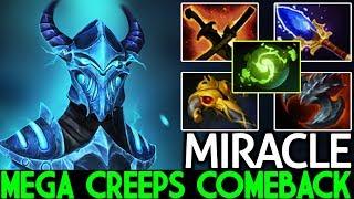 MIRACLE [Razor] Try Hard Mega Creeps Comeback Max Speed Build 7.23 Dota 2