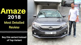 Honda Amaze 2018 | Value for money Car ?? Detailed Car Review - HINDI | Ujjwal Saxena