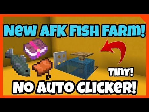 New Best AFK Fish Farm! 2019 1.12.0/1.14 Bedrock Edition, Java Edition, PS4