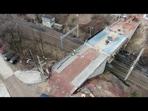 Budowa wiaduktu w  Radlinie (18.03.2021)