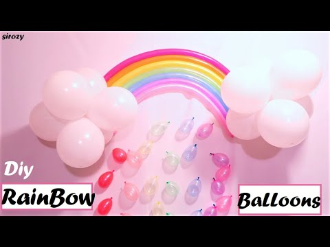 Rainbow Cloud With Raindrops Balloon Party Decoration DIY