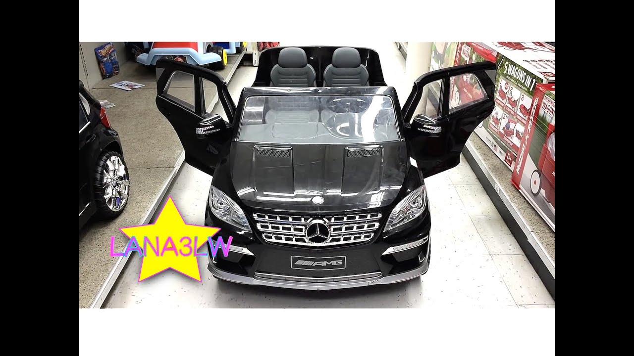 mercedes ml63 kids electric ride on car power test drive toys r us popular lana3lw youtube