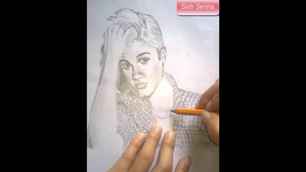 Justin Bieber phiên bản lỗi – vẽ Justin Bieber bằng bút chì cực đẹp