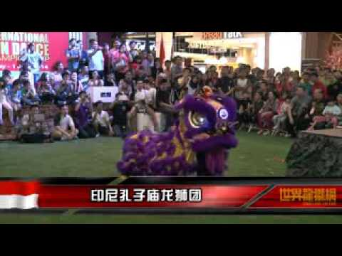 Lion dance competition in living world