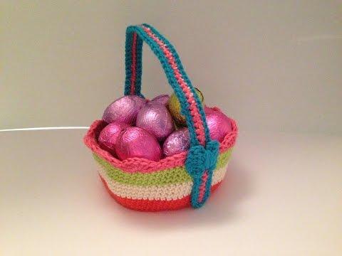 How to crochet medium size easter basket