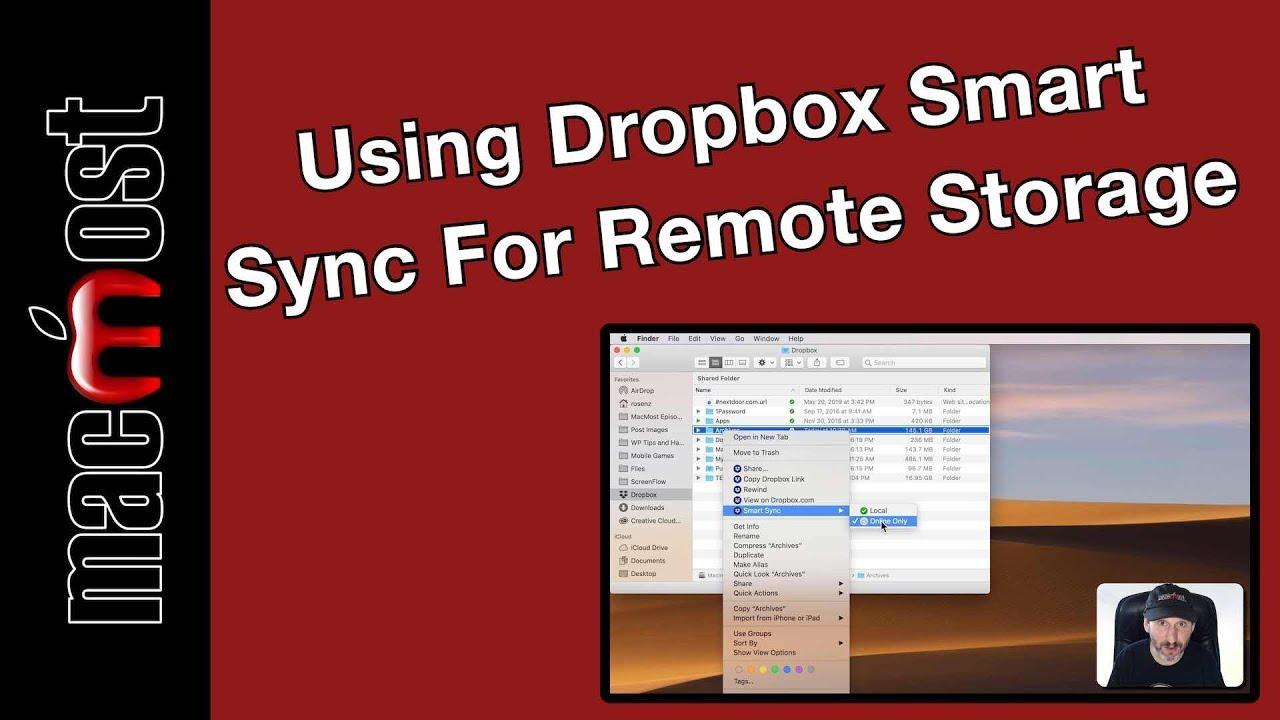 Using Dropbox Smart Sync For Remote Storage