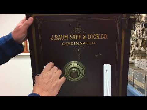 Dave LaBarge of LaBarge Lock & Safe technicians shows how to dial open a J Baum safe