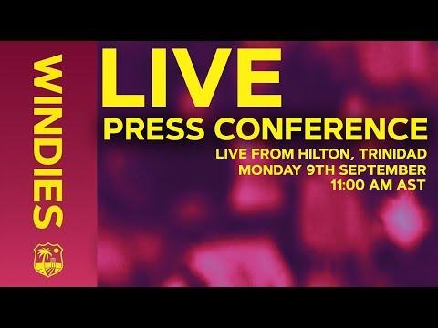 LIVE PRESS CONFERENCE  | Cricket West Indies | The Hilton, Trinidad