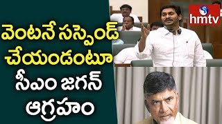 TDP leaders suspended from AP Assembly | hmtv
