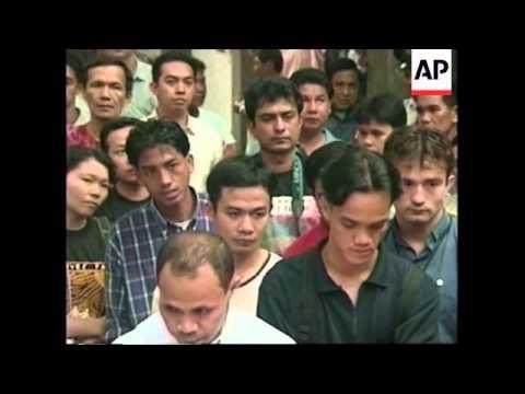 PHILIPPINES: ANTI INDONESIA PROTESTS