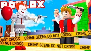 CLOWN IT THE THING BECAME SHERIFF IN THE MURDER CHALLENGE OF ROBLOX! (Mystery Murder)